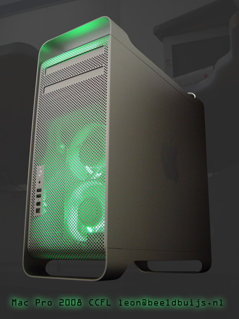 Mac Pro with green CCFL
