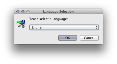 Choose the desired language