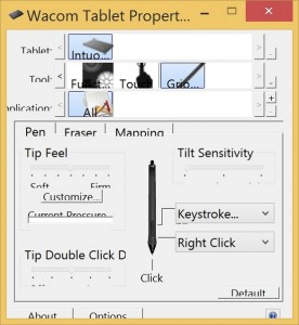 Wacom tablet properties