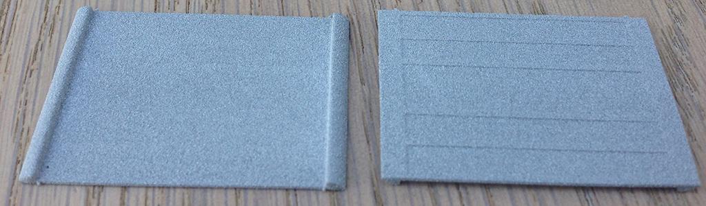 3D geprinte hordeur strip houders van Shapeways