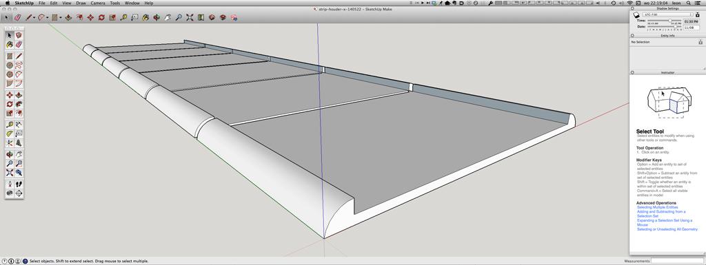 Sketchup hordeur geleider houder 3D model